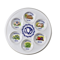 Disposable Passover Plates (Dozen)