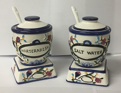 Ceramic Salt Water and Horseradish Set